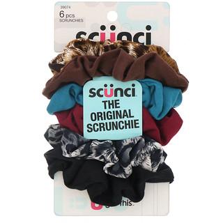 Scunci, The Original Scrunchie, 6 Pieces