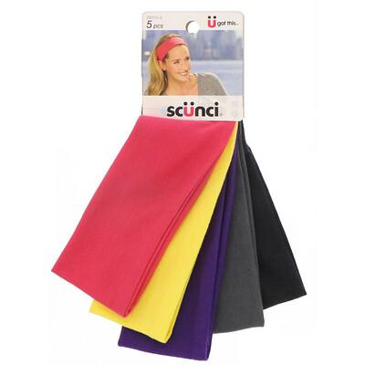 Купить Scunci Повязки для волос Summer, разные цвета, 5штук