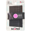Scunci, No Slip Grip, Color Match Bobby Pins, Black, 50 Pieces
