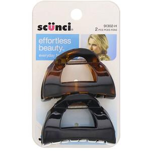 Scunci, Effortless Beauty, Clutch Jaw Clips, 2 Pieces отзывы покупателей