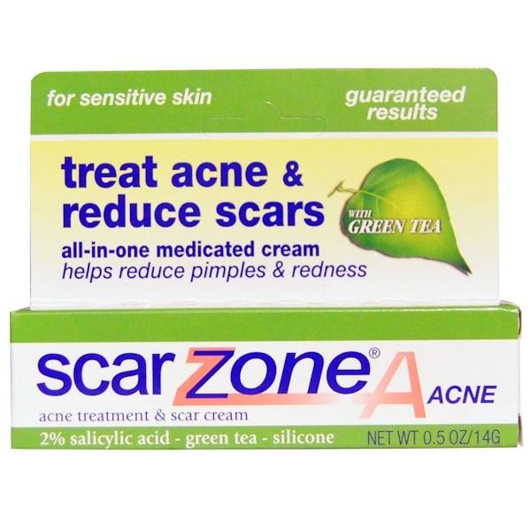 Scar Zone, Крем для лечения угрей и уменьшения рубцов, 0,5 унции (14 г) (Discontinued Item)
