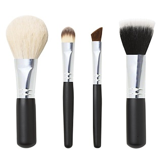 Studio Basics, Mineral Makeup Brush Set, 4 Piece Set