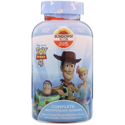 Купить Sundown Naturals Kids Complete Multivitamin Gummies, Toy Story 4, Natural Grape, Orange & Cherry Flavors, 180 Gummies
