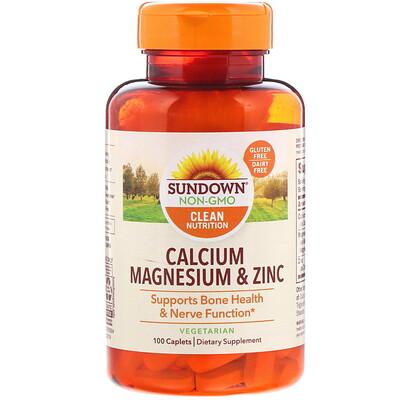 Фото - Кальций, магний и цинк, 100 капсуловидных таблеток pre workout explosion предтренировочный комплекс 120капсуловидных таблеток