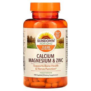 Sundown Naturals, Calcio, magnesio y zinc, 100comprimidos