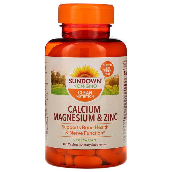 Calcium Magnesium & Zinc, 100 Caplets