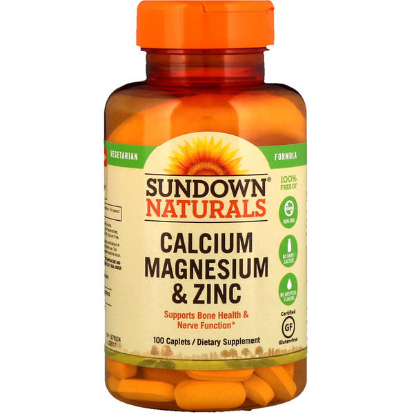 Sundown Naturals, Calcium Magnesium and Zinc, 100 Caplets