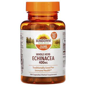 Сандаун Нэчуралс, Whole Herb Echinacea, 400 mg, 100 Capsules отзывы покупателей