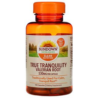 Sundown Naturals, True Tranquility, Valerian Root, 530 mg, 100 Capsules