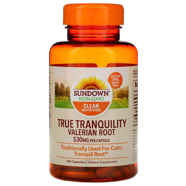Sundown Naturals, True Tranquility, Valerian Root, 530 mg, 100 Capsules