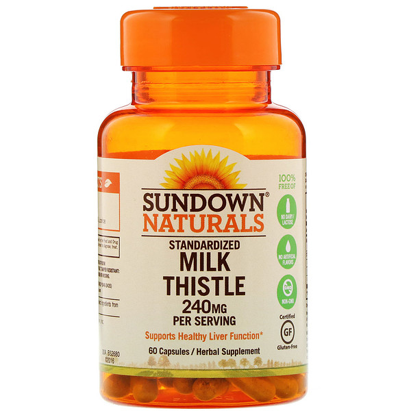 Standardized Milk Thistle, 240 mg, 60 Capsules