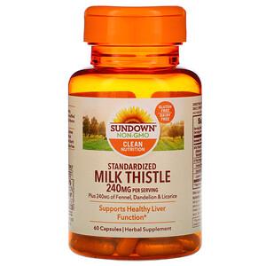 Сандаун Нэчуралс, Standardized Milk Thistle, 240 mg, 60 Capsules отзывы