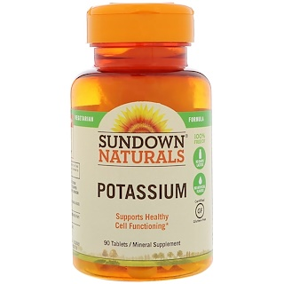 Sundown Naturals, Potassium, 90 Tablets