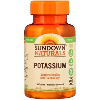 Sundown Naturals, بوتاسيوم، 90 قرص