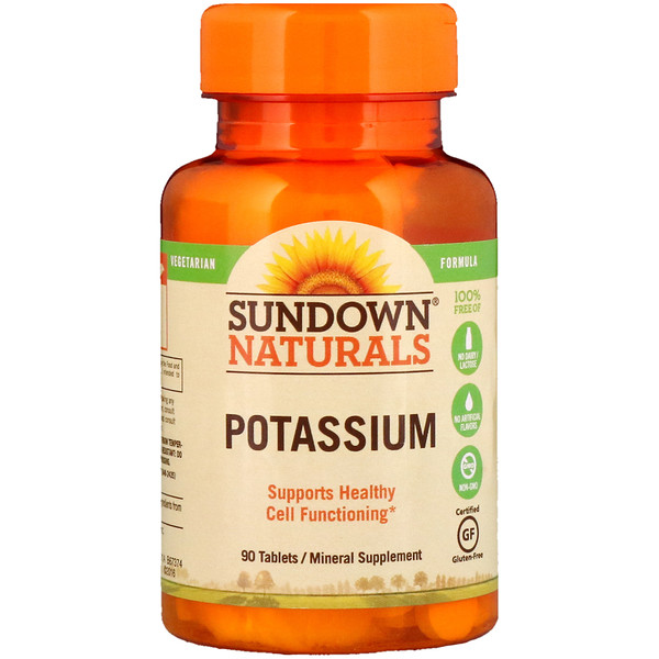 Sundown Naturals, Potassium, 90 Tablets (Discontinued Item)