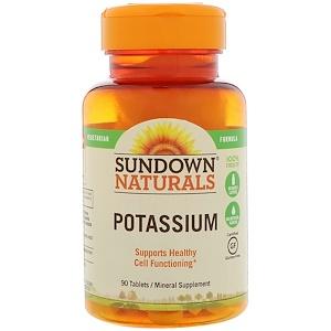 Sundown Naturals, Potassium, 90 Tablets