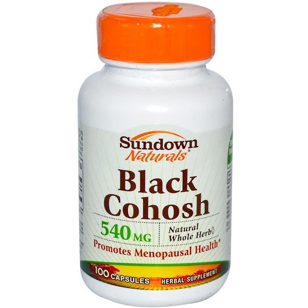 Sundown Naturals, Black Cohosh, 540 mg, 100 Capsules (Discontinued Item)