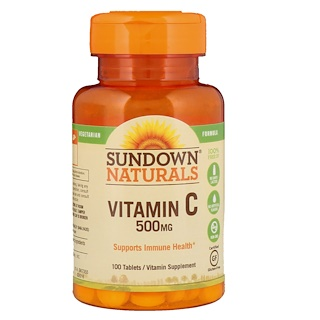 Sundown Naturals, Vitamin C, 500 mg, 100 Tablets
