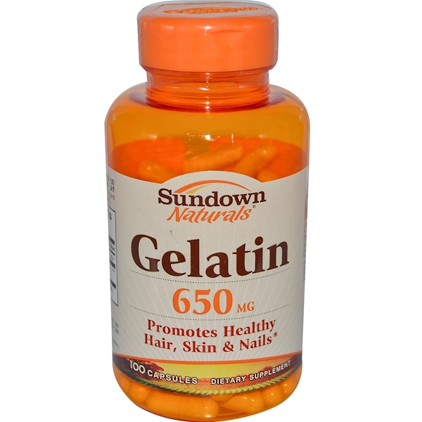 Sundown Naturals, Gelatin, 650 mg, 100 Capsules (Discontinued Item)