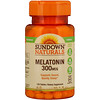 Sundown Naturals, メラトニン、 300 mcg、 120タブレット