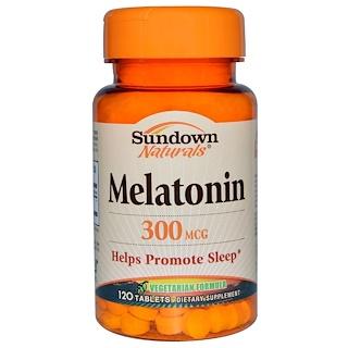 Sundown Naturals, Melatonina, 300 mcg, 120 tabletas