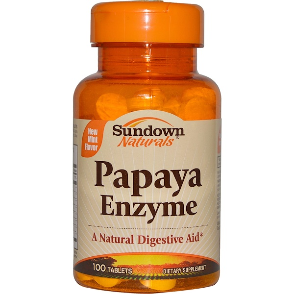 Sundown Naturals, Papaya Enzyme, 100 Tablets (Discontinued Item)