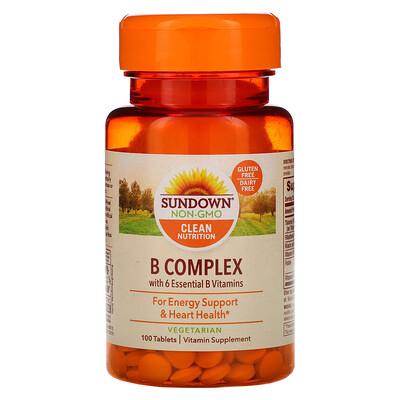 Купить Sundown Naturals Комплекс витаминов группыВ, 100таблеток