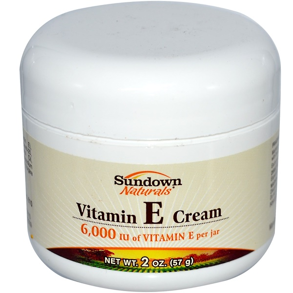 Sundown Naturals, Vitamin E Cream, 2 oz (57 g) (Discontinued Item)