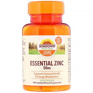 Сандаун Нэчуралс, Essential Zinc, 50 mg, 100 Caplets отзывы
