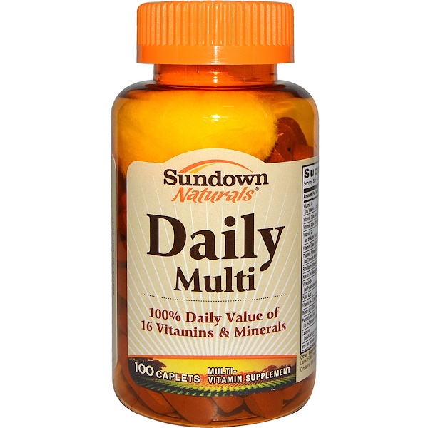 Sundown Naturals, Daily Multi, 100 Caplets (Discontinued Item)