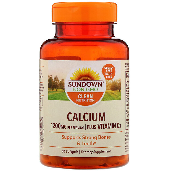 Sundown Naturals, Calcium, Plus Vitamin D3, 1,200 mg, 60 Softgels (Discontinued Item)
