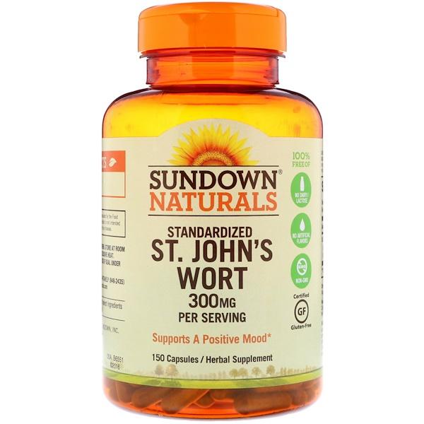 Sundown Naturals, Standardized St. John's Wort, 300 mg, 150 Capsules