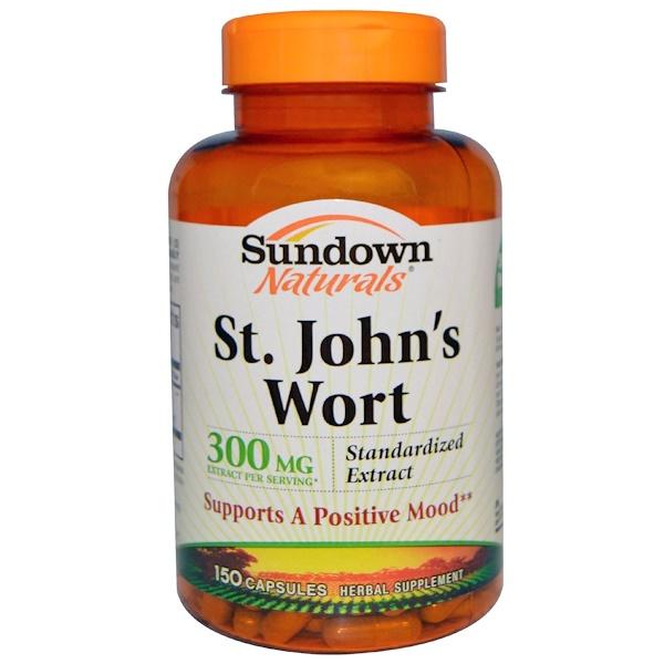 Sundown Naturals, St. John's Wort, 300 mg , 150 Capsules