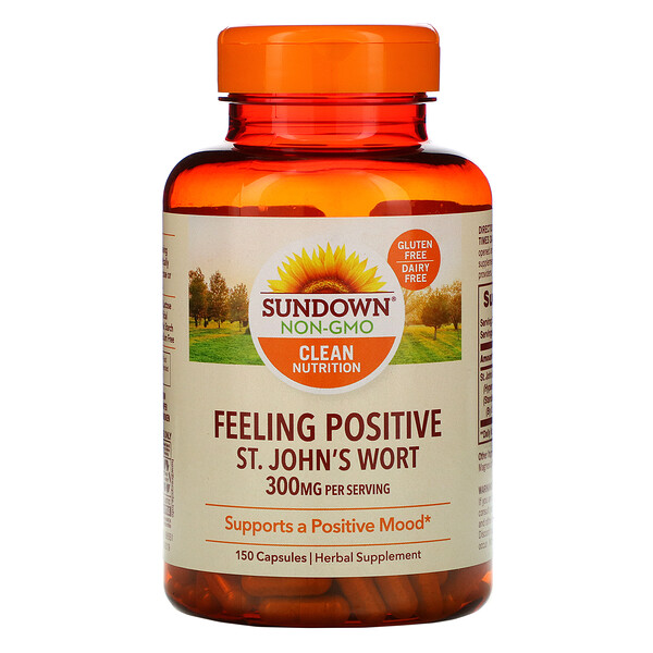 Sundown Naturals, Feeling Positive, St. John's Wort, 300 mg, 150 Capsules