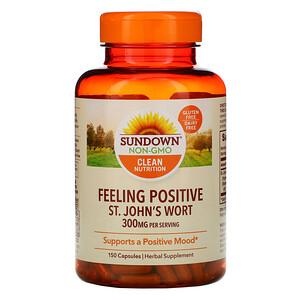 Сандаун Нэчуралс, Feeling Positive, St. John's Wort, 300 mg, 150 Capsules отзывы
