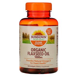 Sundown Naturals, Organic Flaxseed Oil, 1,000 mg, 100 Softgels