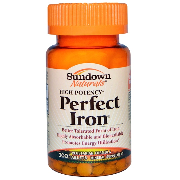 Sundown Naturals, Perfect Iron, 200 таблеток (Discontinued Item)