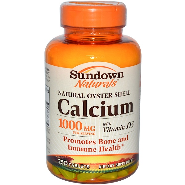 Sundown Naturals, Натуральный кальций из раковин устриц, 250 таблеток (Discontinued Item)
