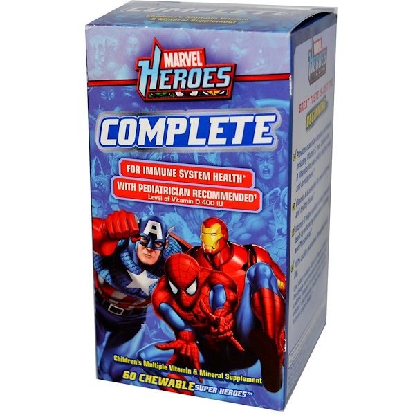 Sundown Naturals, Marvel Heroes Complete, 60 Chewable Super Heroes (Discontinued Item)