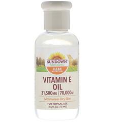 Sundown Naturals, Vitamin E Oil, 70,000 IU, 2.5 أونصة سائلة (75 مل