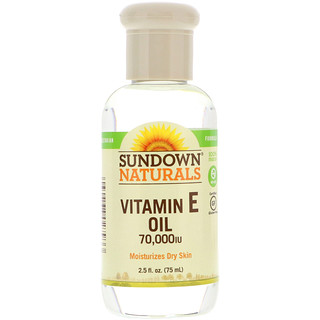 Sundown Naturals, Óleo de Vitamina E, 70,000 UI, 2.5 fl oz (75 ml)