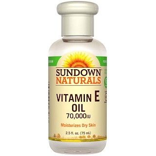 Sundown Naturals, Vitamin E Oil, 70,000 IU, 2.5 fl oz (75 ml)
