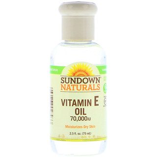 Sundown Naturals, Vitamin E Öl, 70.000 IE, 2,5 fl oz (75 ml)