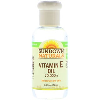 Sundown Naturals, Vitamin E Oil, 70,000 IU, 2.5 أونصة سائلة (75 مل)