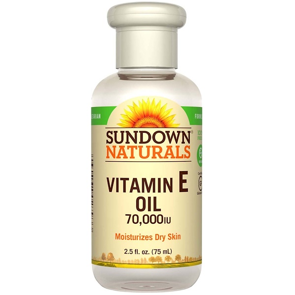Sundown Naturals, Aceite con vitamina E, 70,000 IU (international units), 2.5 fl oz (75 ml)