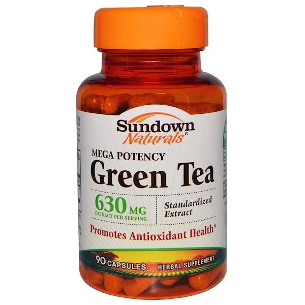 Sundown Naturals, Mega Potency Green Tea, 630 mg, 90 Capsules (Discontinued Item)