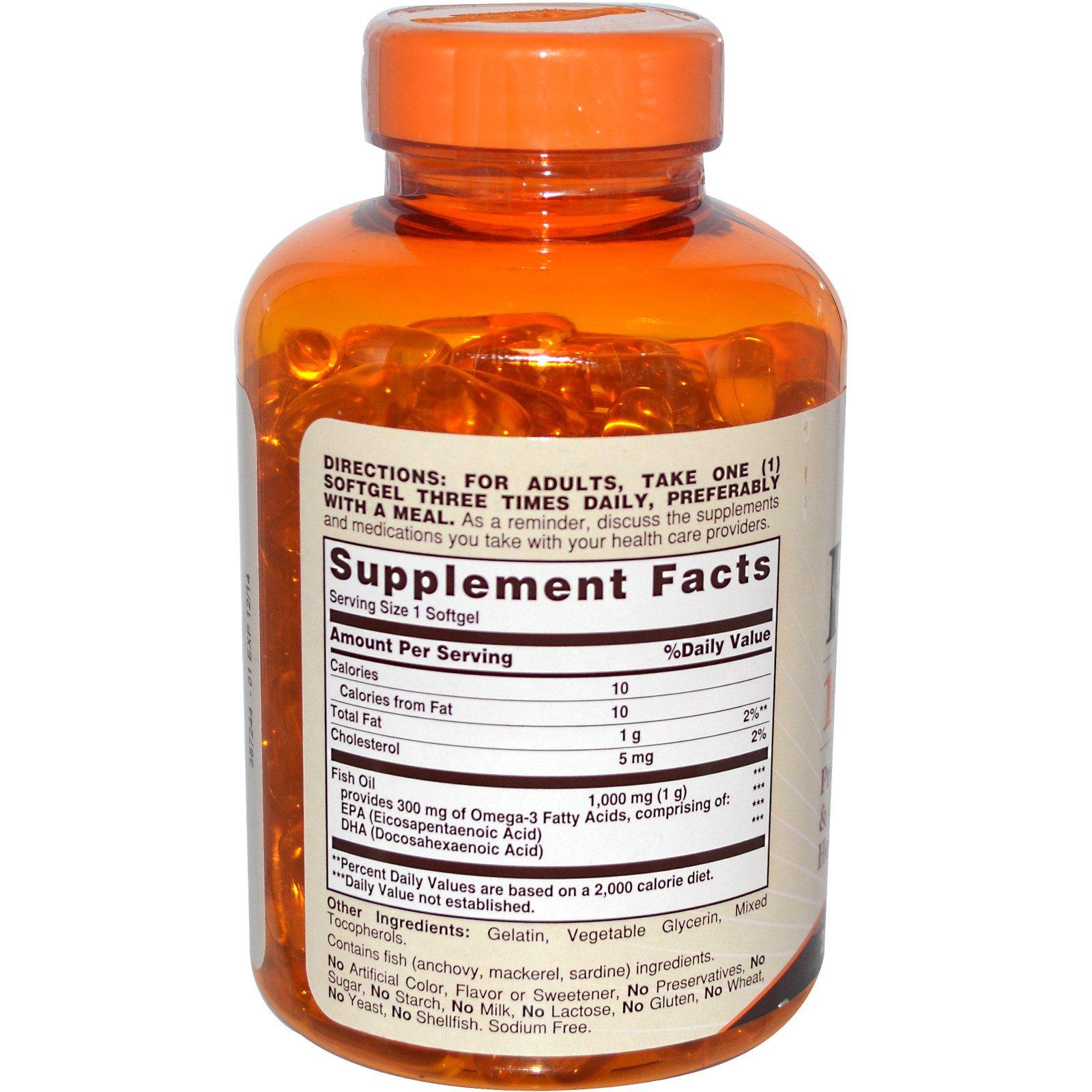 Sundown Naturals Fish Oil 1000 Mg 200 Softgels Healthy Care Omega 369 Caps Discontinued Item