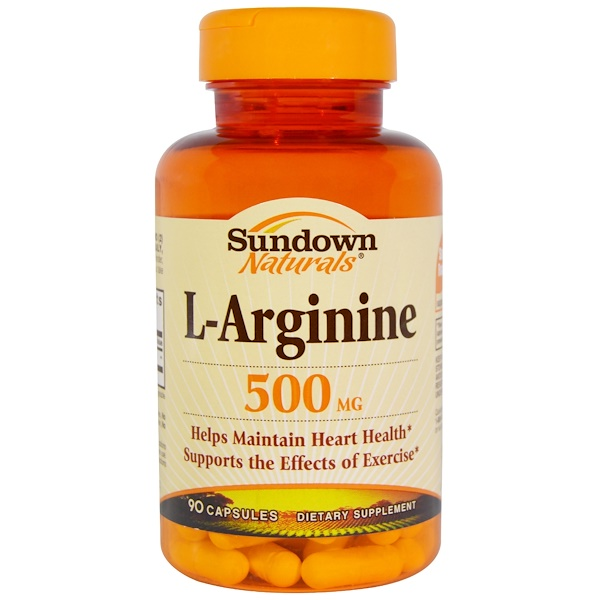 Sundown Naturals, L-Arginine, 500 mg, 90 Capsules (Discontinued Item)