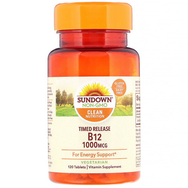 Sundown Naturals, VitaminaB12, 1000mcg, 120comprimidos