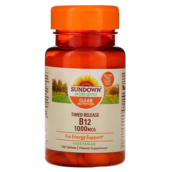 Sundown Naturals, Vitamin B12, 1,000 mcg, 120 Tablets